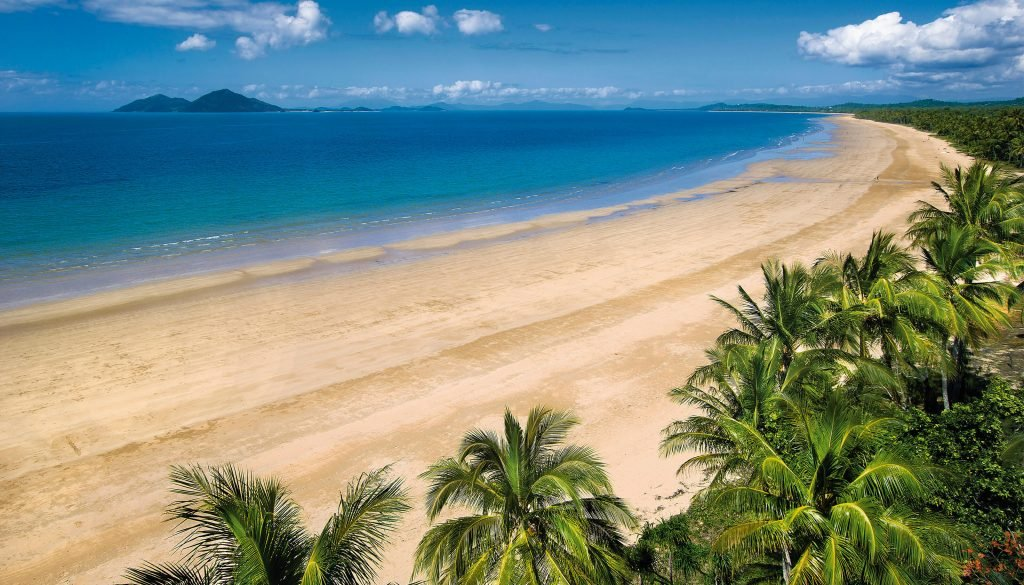 large beach in north queensland