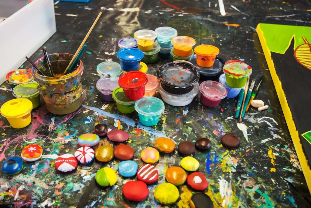 Bright paints at the HopeVale Arts & Cultural Centre